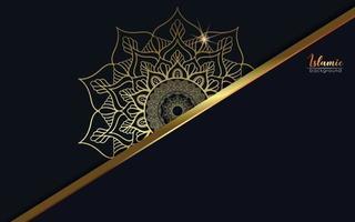 Luxury mandala background with golden arabesque vector