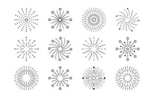 Firework Line Icon vector