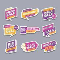 Set of Sale Banner Offer Stickers vector
