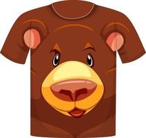 Front of t-shirt with grizzly bear pattern vector