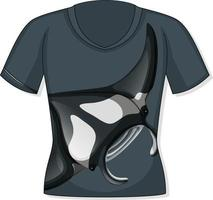 Front of t-shirt with stingray pattern vector
