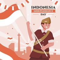 Happy Indonesia Independence Day vector