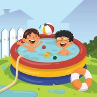 Swimming Activity on Summer vector