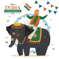 Happy India Independence Day vector