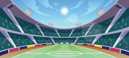Soccer Stadium Background vector