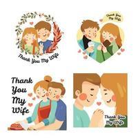 Appreciation Day Wife Cards vector