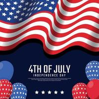 4th Of July Festivity Concept vector
