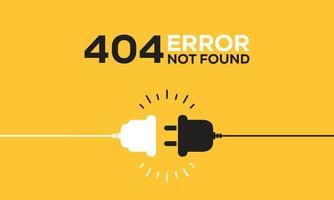 Electric socket with a plug. Connection and disconnection concept. Concept of 404 error connection. Electric plug and outlet socket unplugged. Wire, cable of energy disconnect vector