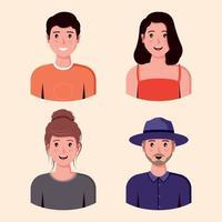 colección de personajes planos vector