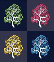 Signature tree design concept vector