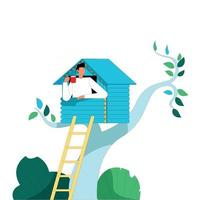 Keep social distance illustration concept vector