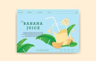 landing page banana juice vector