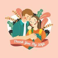 Appreciation Day Wife Card vector