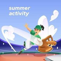 Softball Activity Concept vector