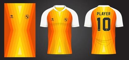 yellow sports jersey template for team uniforms and Soccer t shirt design vector