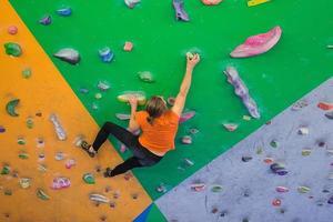 indoor climbing girl photo