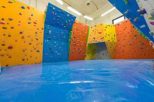 Indoor climbing training photo