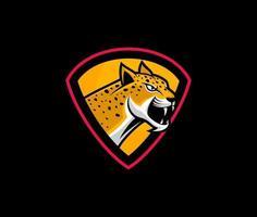 Angry jaguar head vector