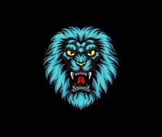 Lion head angry vector