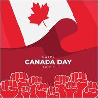 Youth of Canada celebrate the Canada day. vector