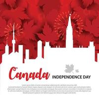Celebration of Independence day of Canada vector