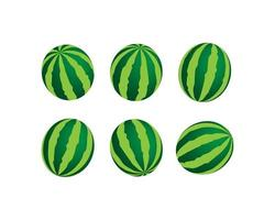 watermelon icon with vector illustration. Fruits item icon. vector icon watermelon isolated with white background. Vector illustration of fresh watermelon.