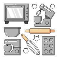 Baking equipment vector icon illustration