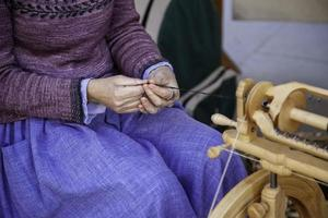 Spinner working sewing photo