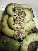 Avocado toast with seeds photo