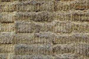 Straw bales field photo