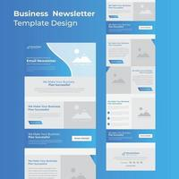 Business Campaign Email Template Design For Marketing vector
