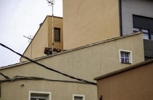 Village house with antennas photo