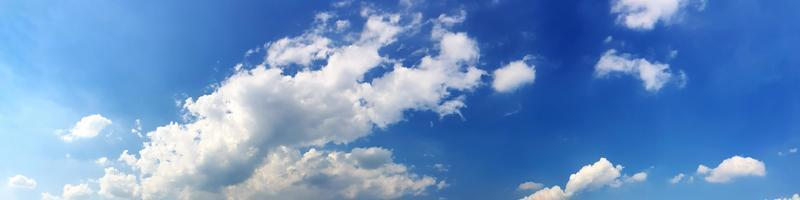 Panorama sky with beautiful cloud on a sunny day. photo