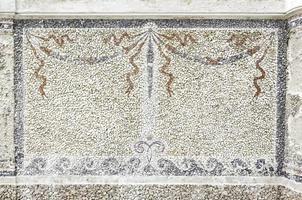 Old stone mosaic photo
