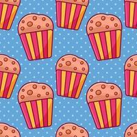muffin cake seamless pattern illustration vector