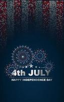 4th July or Independence Day banner design of vector