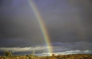 Rainbow in sky photo