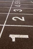 símbolo de la pista de atletismo foto