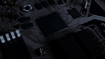 Circuito de renderização 3D de loop de rotação da CPU de inteligência artificial video