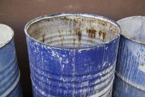 Rusty industrial drums photo