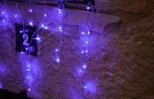luces de la calle de navidad foto