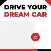 Automotive auto care car sales promotion social media template red urban style vector