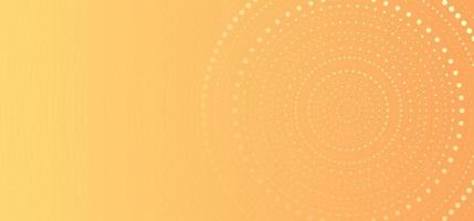Banner web template abstract yellow gradient circles dots halftone pattern background vector