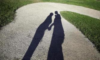 Shadows of couple in love photo