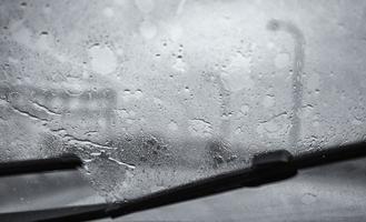 detalle de gotas de lluvia de vidrio foto