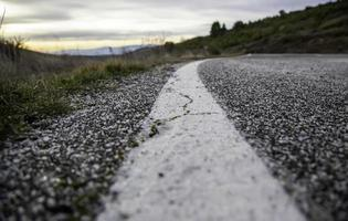 detalle de la textura de la carretera foto