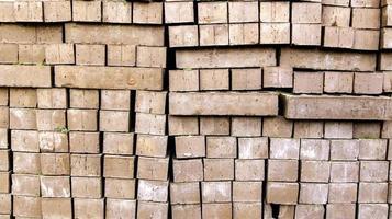pared de ladrillos de barro foto