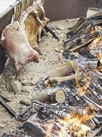 Cooking pork ribs photo