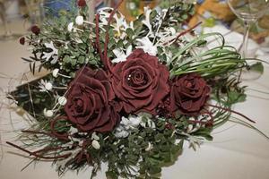 centro de flores nupciales foto