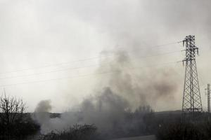 Smoke air pollution photo